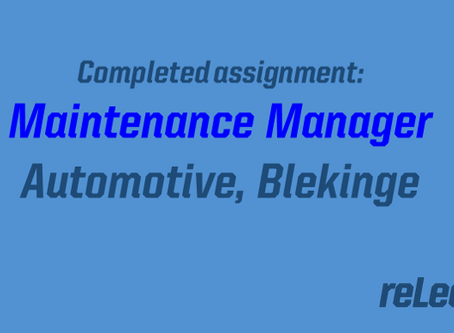 Completed Assignment: Maintenance Manager