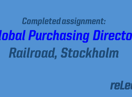 Completed assignment: Global purchasing manager