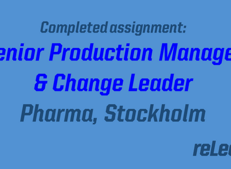 Completed Assignment: Senior Production Manager and Change Leader