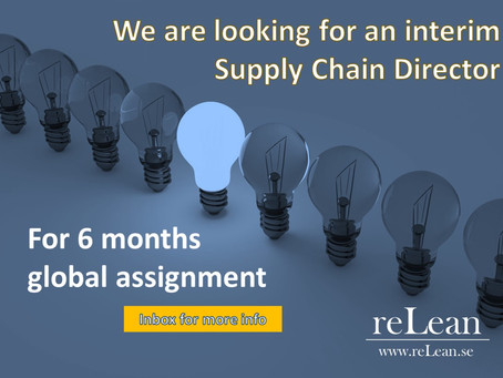 We are looking for an interim Supply Chain Director