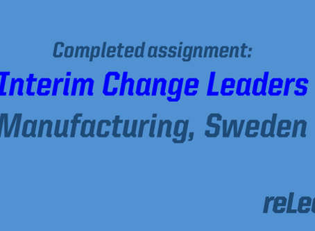 Completed assignment: Interim change leader