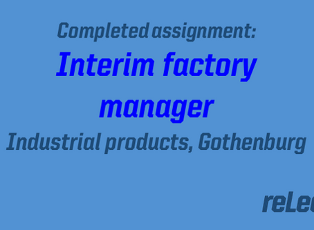 Completed assignment: Interim factory manager