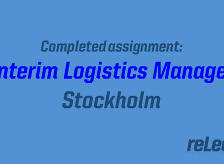 New assignment completed: interim logistics manager