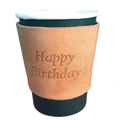 Happy Birthday - Small Coffee Sleeve