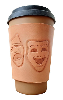 Theatre Mask - Coffee Sleeve