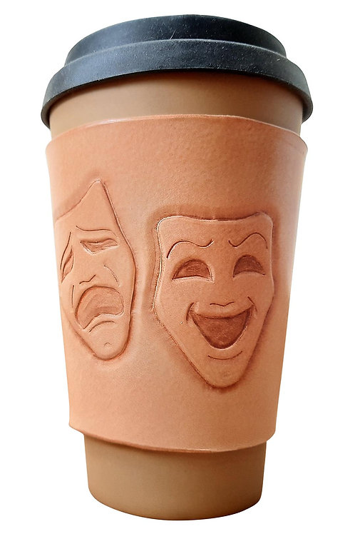 Theatre Mask - Coffee Sleeve