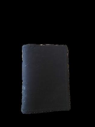 Slim Black Cork Leather Card Wallet