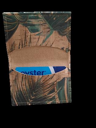 Slim Jungle Cork Leather Card Wallet