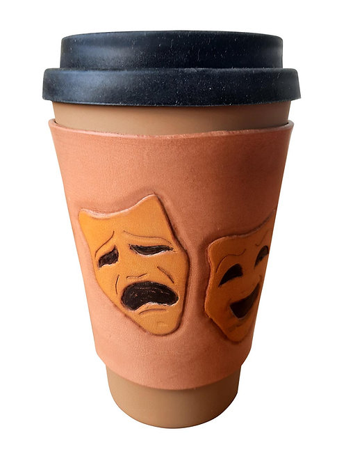 Theatre Mask Yellow - Coffee Sleeve