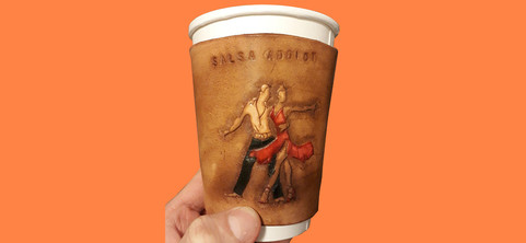 Leather Coffee cup sleeve