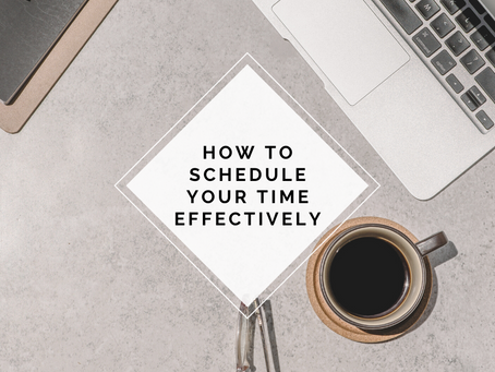 How to schedule your time effectively (Block-Scheduling)