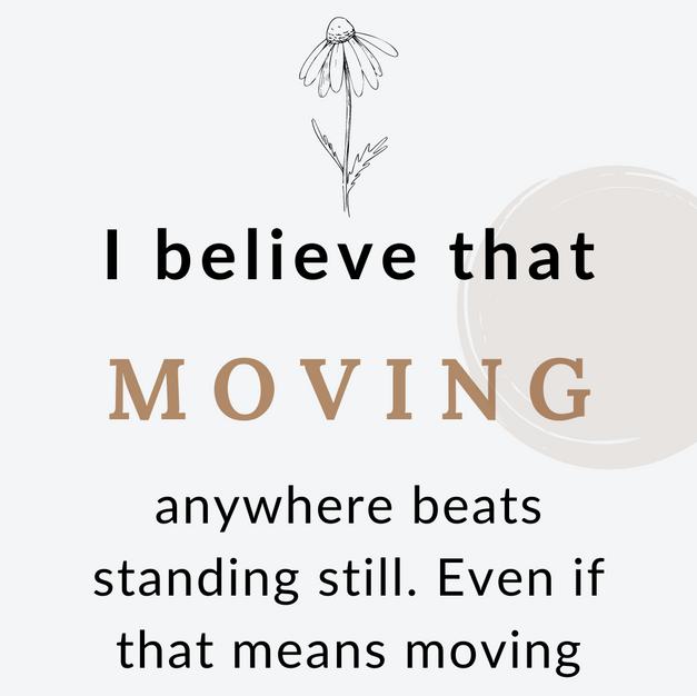 Progress is Moving
