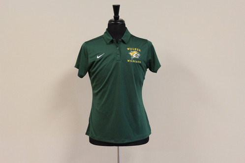 322d9693 Nike Womens Game Day Polo - Dark Green Dry Fit.