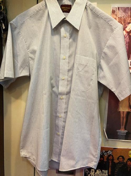 シャツプラザ スクエアストライプ 半袖シャツ