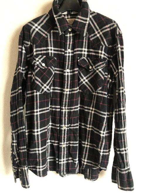 バックナンバー スナップボタンチェックシャツ