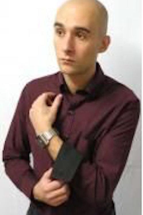 ネバートラストオックスラウンドカラーボタンダウンシャツ