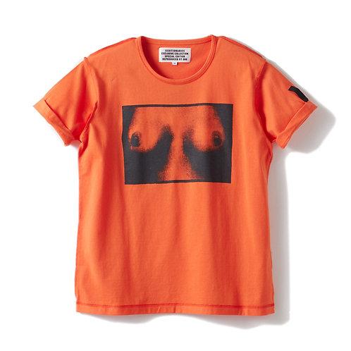 Tシャツ TITS(セディショナリーズ) オレンジ