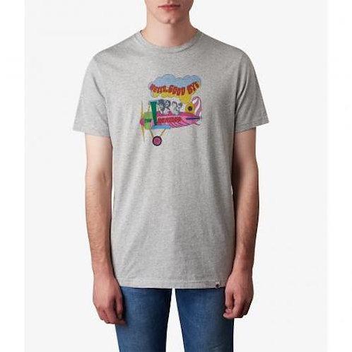 プリティーグリーンSGT.SSHELLOGOODBYEプリントクルーネックTシャツ(ライトグレー)