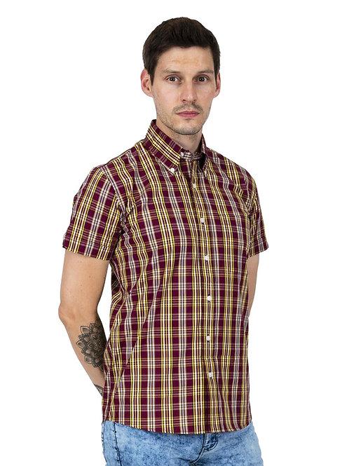 RELCOS/Sチェックボタンダウンシャツ