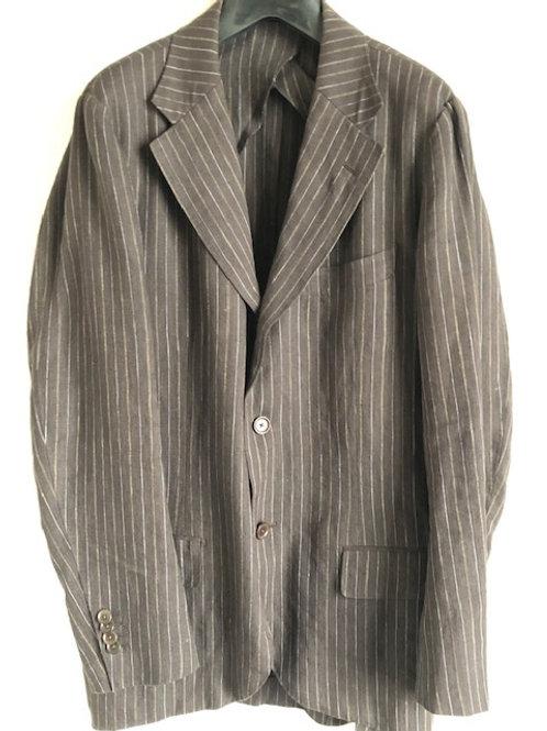 ストライプ 麻 スーツ