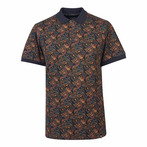 プリティーグリーンSSRANSONペイズリーポロシャツ