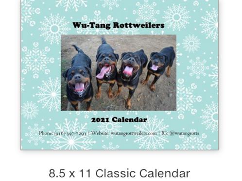 2021 Wu-Tang Rottweilers Calendar