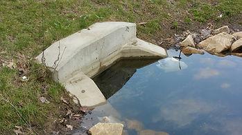 inflow pipe under water