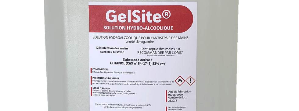 GelSite® solution hydroalcoolique bidon de 5L