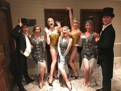 The Tonics with the fab Gatsby dancers