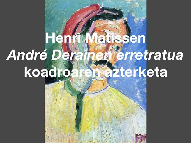 André Derainen erretratua koadroaren azterketa.png