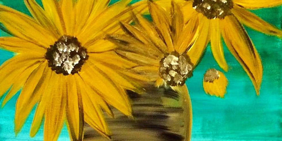 Kids' Canvas: Van Gogh's Sunflowers