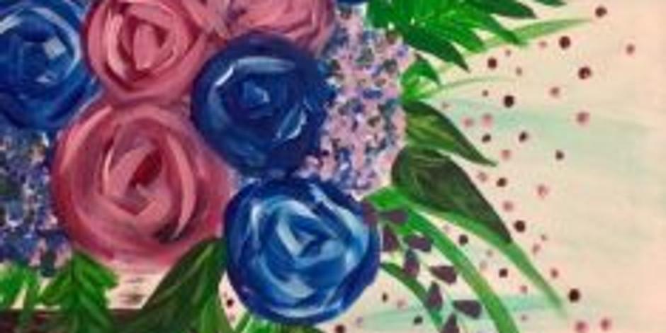 Corks & Canvas: Spring Bouquet