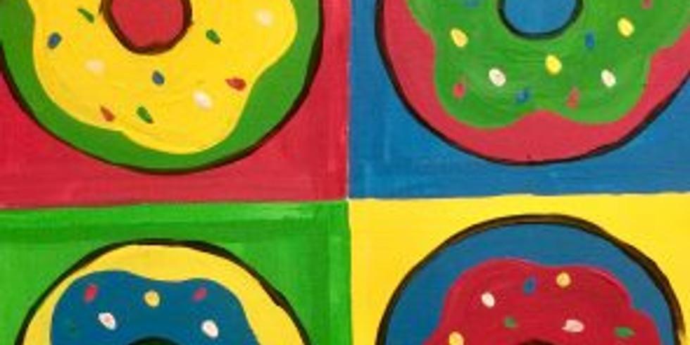 Kids' Canvas: Warhol's Donuts