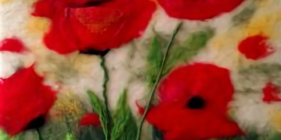 Poppies Felted Wall Hanging