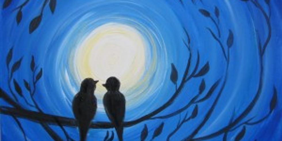 Corks & Canvas - Love Birds