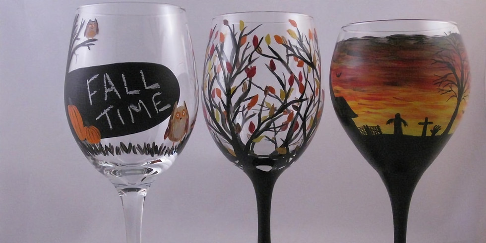 Jan Zell Wines & Ciders Fall Glass Painting Event