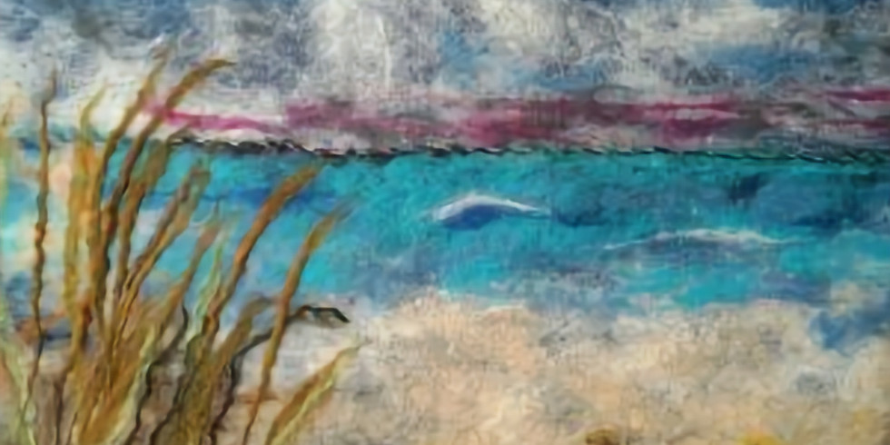 Sea Oats Felted Wall Hanging
