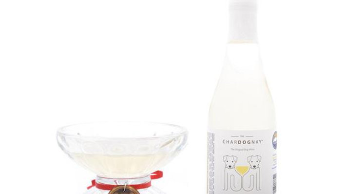 Winey Dogtails Pawrier Doggie Champagne With Glass