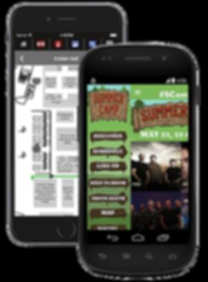 Signature app Event Tradeshow, concert sample Platinum Edge Media