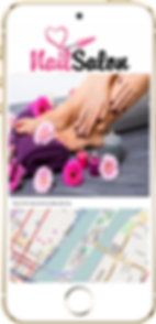 Express app hair salon location sample Platinum Edge Media