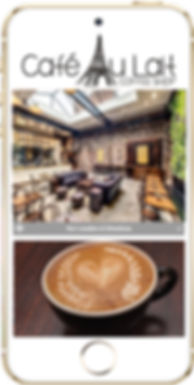 Express app  Coffee shop 2 sample Platinum Edge Media