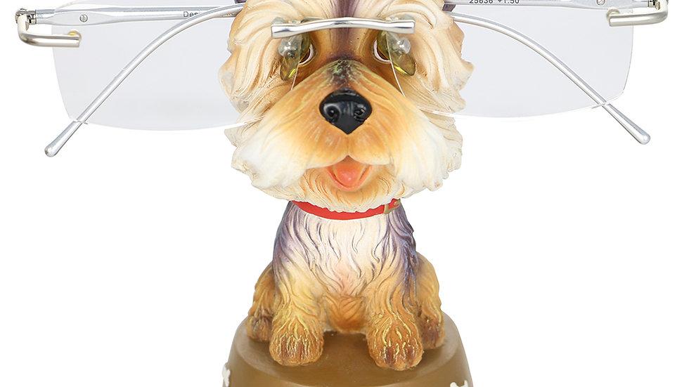 """EYEGLASS HOLDER, 4.5"""" SHITZU DOG"""