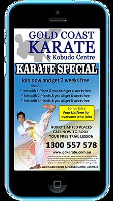 Express app martial arts visual text promotions sample Platinum Edge Media