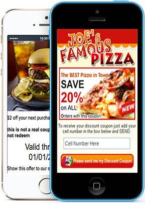 Express app Restaurant visual text promotions sample Platinum Edge Media