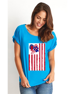 Ameican Flag Wine Paw Heart Collecti
