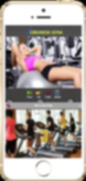 Express app  Crunch gym sample Platinum Edge Media