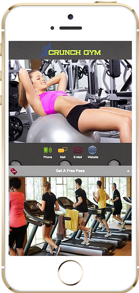 Express app  Crunch gym sample Platinum Edge Media