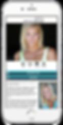 Signature appmy model portfolio app sample Platinum Edge Media