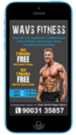 Personal Trainer Mobile App Sample Ad Platinum Edge Media