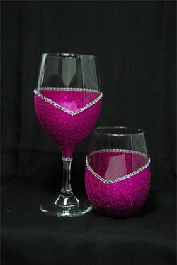 """T's """"Blinged"""" Glassware"""